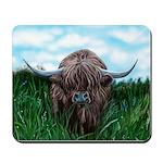 Scottish Highland Cow Painting Mousepad