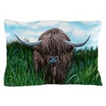 Scottish Highland Cow Painting Pillow Case