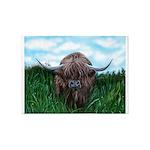 Scottish Highland Cow Painting 5'x7'Area Rug