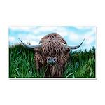 Scottish Highland Cow Painting Car Magnet 20 x 12