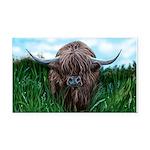 Scottish Highland Cow Painting Rectangle Car Magne