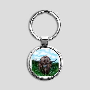 Scottish Highland Cow Painting Keychains