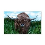 Scottish Highland Cow Painting Wall Sticker