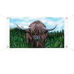 Scottish Highland Cow Painting Banner