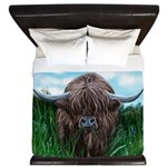 Scottish Highland Cow Painting King Duvet