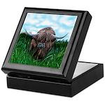 Scottish Highland Cow Painting Keepsake Box
