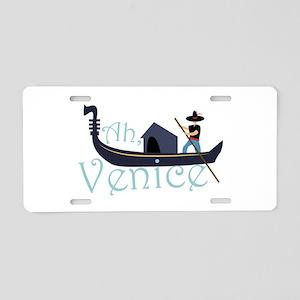 Ah, Venice! Aluminum License Plate