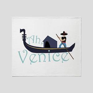 Ah, Venice! Throw Blanket