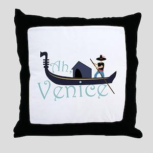 Ah, Venice! Throw Pillow