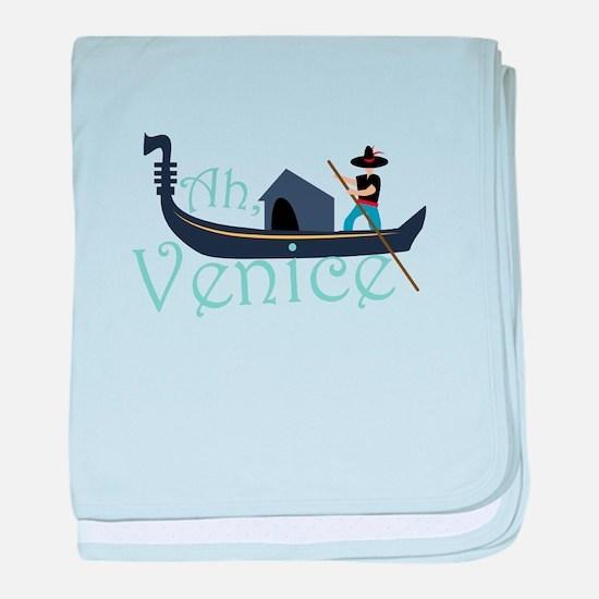 Ah, Venice! baby blanket