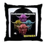 Scottish Highland Cow Moohemian Rhaps Throw Pillow