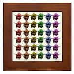 Rainbow Herd Framed Tile