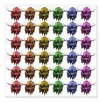 Rainbow Herd Square Car Magnet 3