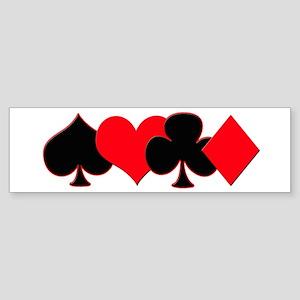 Card Suits Sticker (Bumper)