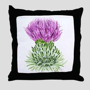 Bonnie Thistle Throw Pillow