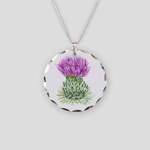 Bonnie Thistle Necklace Circle Charm