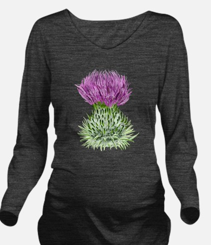 Bonnie Thistle Long Sleeve Maternity T-Shirt