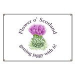 Jaggy Thistle Banner
