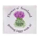 Jaggy Thistle Throw Blanket