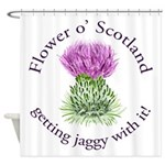 Jaggy Thistle Shower Curtain