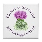 Jaggy Thistle Tile Coaster