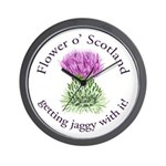 Jaggy Thistle Wall Clock