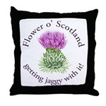 Jaggy Thistle Throw Pillow