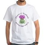 Jaggy thistle White T-Shirt