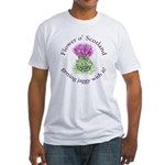 Jaggy thistle Fitted T-Shirt