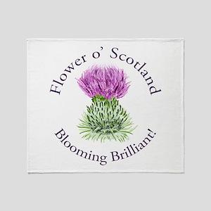 Blooming Thistle Throw Blanket