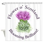 Blooming Thistle Shower Curtain