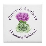 Blooming Thistle Tile Coaster