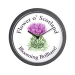Blooming Thistle Wall Clock