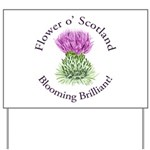 Blooming Thistle Yard Sign