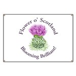 Blooming Thistle Banner