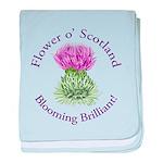 Blooming Thistle baby blanket