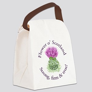Scottish Thistle Canvas Lunch Bag