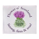 Scottish Thistle Throw Blanket