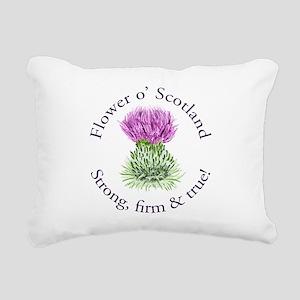 Scottish Thistle Rectangular Canvas Pillow