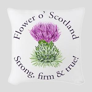 Scottish Thistle Woven Throw Pillow