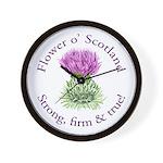 Scottish Thistle Wall Clock