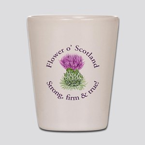 Scottish Thistle Shot Glass