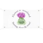 Scottish Thistle Banner