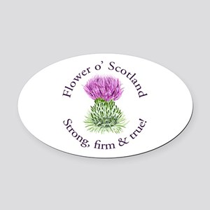 Scottish Thistle Oval Car Magnet