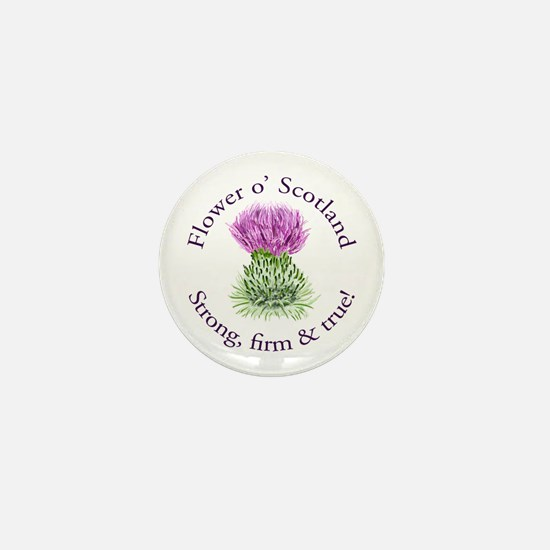 Scottish Thistle Mini Button