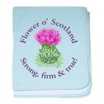 Scottish Thistle baby blanket