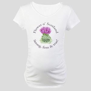 Scottish Thistle Maternity T-Shirt