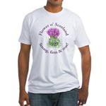 Scottish Thistle Fitted T-Shirt