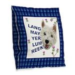 Lang May Yer Lum Reek! Burlap Throw Pillow