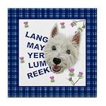 Lang May Yer Lum Reek! Tile Coaster